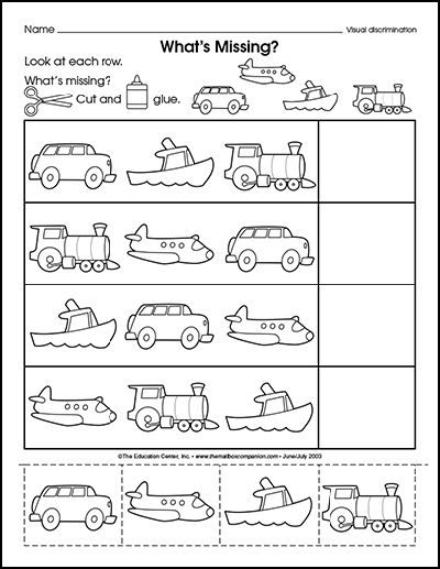 transportation theme preschool activities - Activity Sheet For Preschoolers
