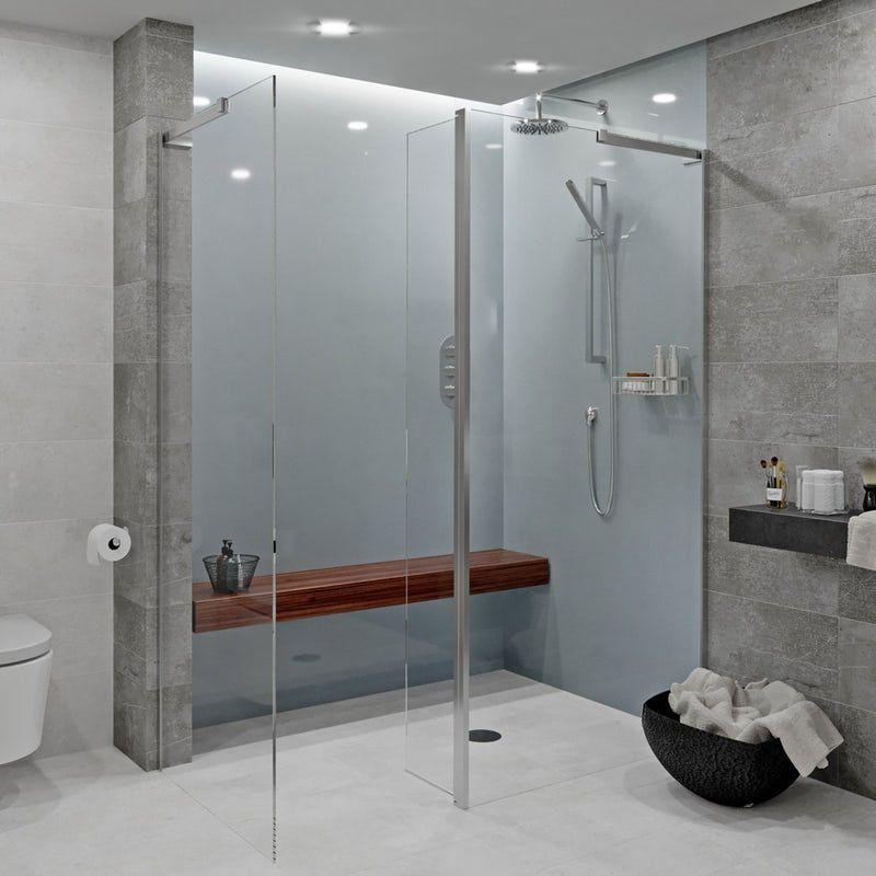 Showerwall Acrylic Gunmetal Shower Wall Panel Shower Wall Panels