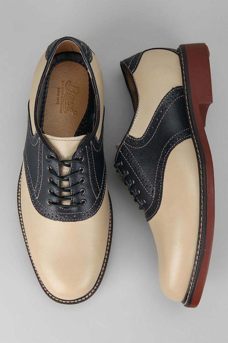 Bass saddle shoes.