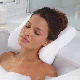 Awesome Microdry Luxury Bath Pillow With Memory Foam, White, (bath Pillow, Bathtub  Pillows