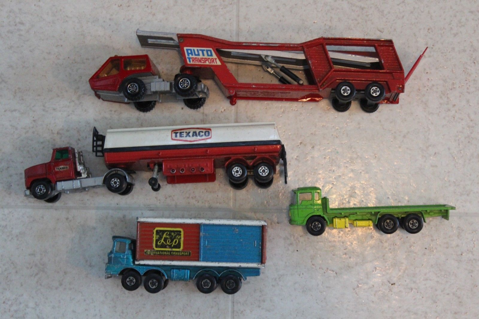 Matchbox Super Kings Lot Red K 10 Car Auto Transporter Texaco Tanker And More Toy Car Texaco Matchbox