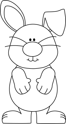 Black And White Bunny With One Ear Up Clip Art Black And White Bunny With One Ear Up Image Bunny Coloring Pages Easter Coloring Pages Easter Embroidery