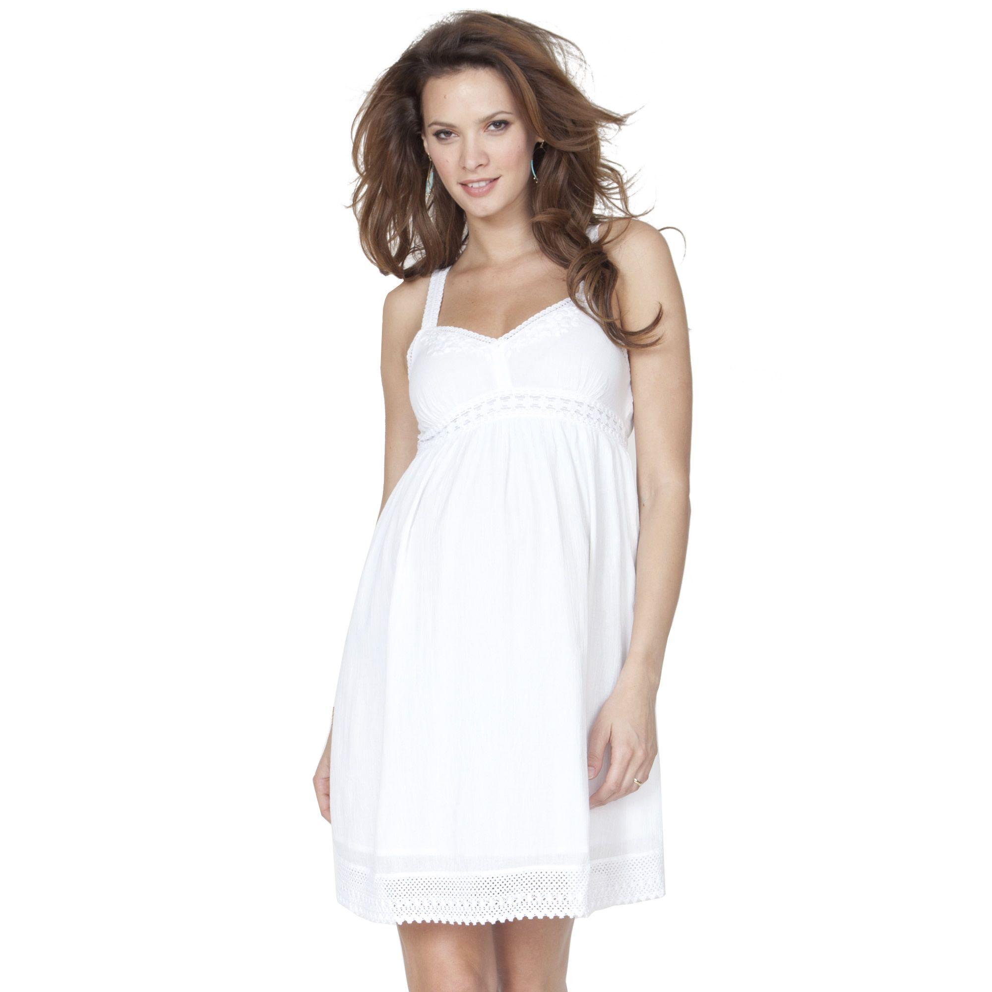 87ba2e98e6159 Baby Shower Dress - Seraphine White Jada Dress | Cute maternity ...