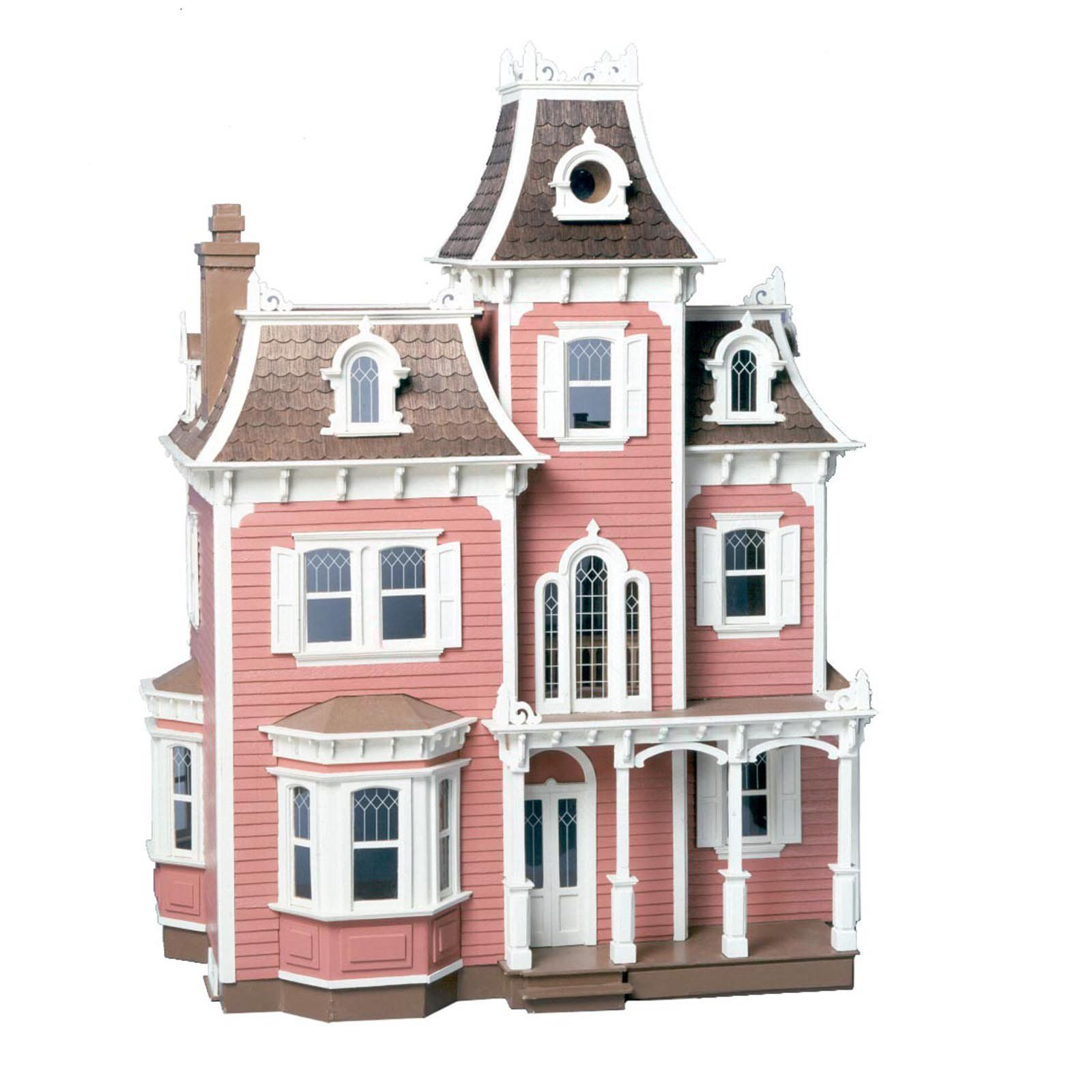 Greenleaf Beacon Hill Dollhouse Kit - 1 Inch Scale - Dignified and grand, the Greenleaf Beacon Hill Dollhouse Kit - 1 Inch Scale is all about the details. Crafted of plywood, its sophisticated exterior i...