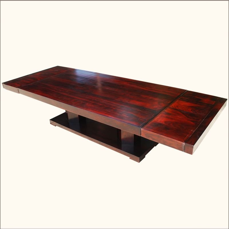1C Sierra Modern Indian Rosewood Double Pedestal Dining Table love