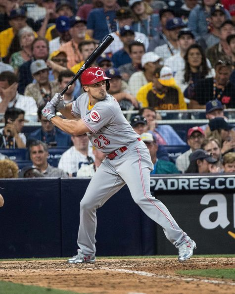 #Allstar2016 National League AllStar Adam Duvall of the Cincinnati Reds bats during the 87th MLB AllStar Game at Petco Park on Tuesday July 12 2016 in San Diego...