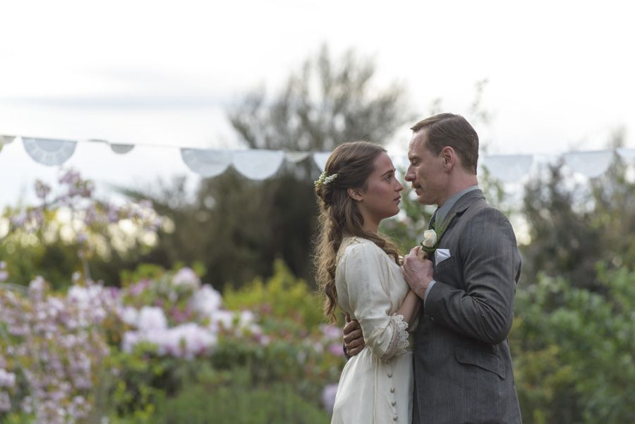 Michael Fassbender and Alicia Vikander in DreamWorks Pictures poignant drama THE LIGHT BETWEEN OCEANS. Courtesy of DreamWorks Pictures.