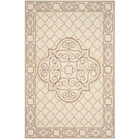 Safavieh Easy Care Ordu Ivory/Gold Rectangular Indoor Handcrafted Area Rug (Common: 6 X 9; Actual: 6-Ft W X 9-Ft L)