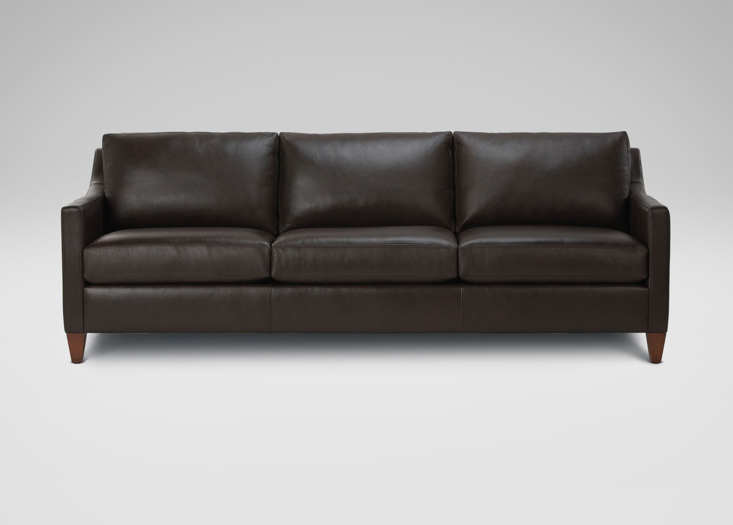 Monterey Three Cushion Leather Sofa Ethan Allen 2 639 20 94 W Leather Sofa Sofa Furniture