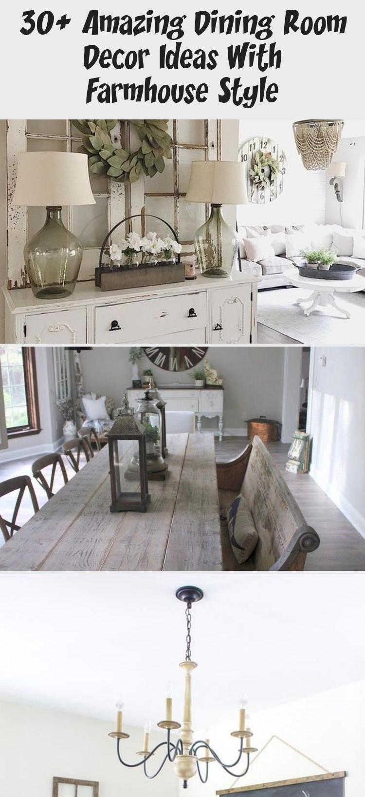 30 Amazing Dining Room Decor Ideas With Farmhouse Style Trendecora Diningroomdesigncon Dining Room Decor Dining Room Design Contemporary Dining Room Design