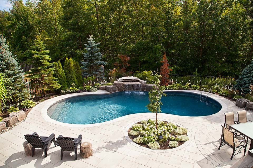 The Orlands Pool Gallery Pioneer Family Pools Pools Backyard Inground Inground Pool Landscaping Backyard Pool Landscaping