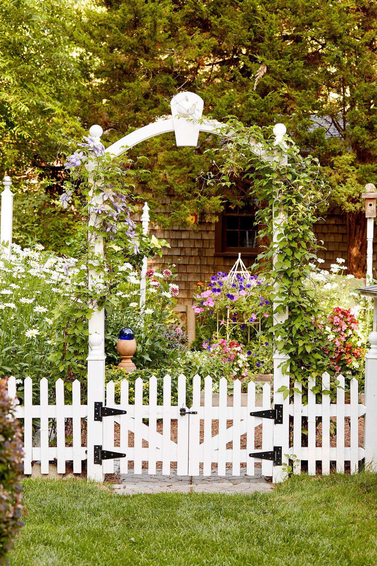 Add Style To Your Yard With These Favorite Fence Ideas Wooden Garden Gate Cottage Garden Design Diy Garden Fence