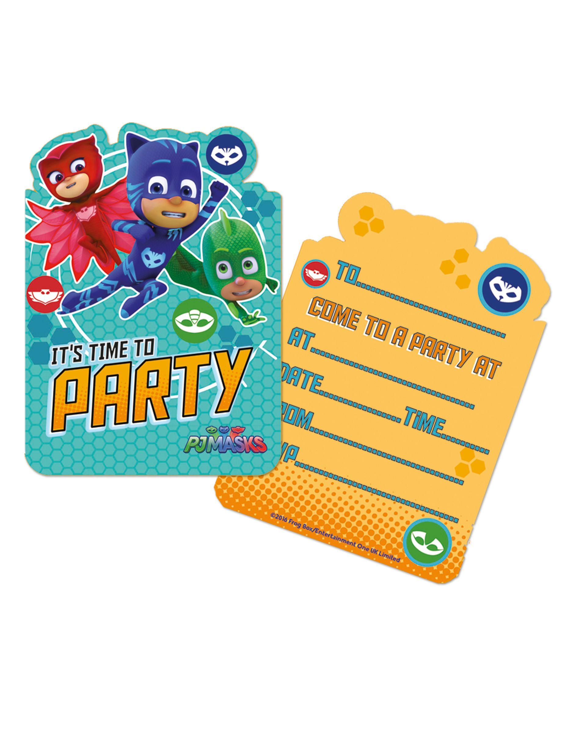 6 Inviti Di Compleanno Super Pigiamini Festa Super Pigiamini