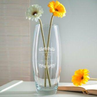 Engraved Bullet Vase - Vintage Design