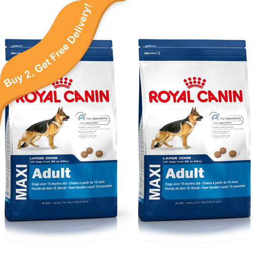 £82.99, Royal Canin Maxi Adult Dog Food, 15kg x 2 with free delivery