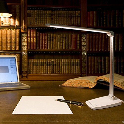 E Feel Led Desk Lamp 5 Level Dimmer Table Lamp With Eye Protection Technology And 5v1a Usb Charging Port Led Desk Lamp Gadget World Office Lighting Ceiling