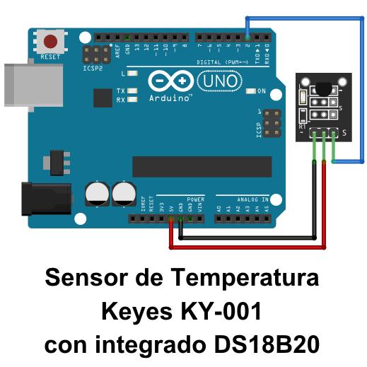 Módulo Sensor De Temperatura Ky 001 Kit De Sensores Keyes 1 Proyectos De Arduino Sensores Arduino