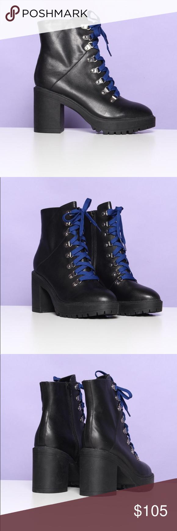 7964cd2cabb Steve Madden Shoes | Steve Madden Royce Leather Heels Hiker Boots ...