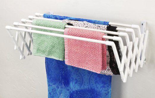 Amazon Com Expandable Wall Mountable Clothes Drying Rack