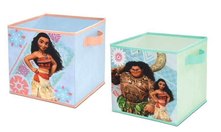 Moana Storage Cube Set Of Two 10 X 10 Collapsible Cubes Playroom Disney Toybox Disney Collapsible Storage Cubes Cube Storage Playroom