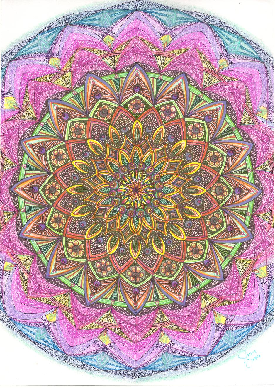 Zendoodle coloring enchanting gardens - Sketchbooks