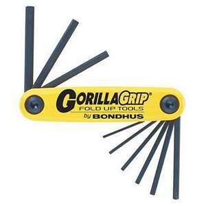Bondhus Gorillagrip 9 Blade Fold Up Hex Set Sae Onlinetoolstore Hex Key Wrench Set Folded Up