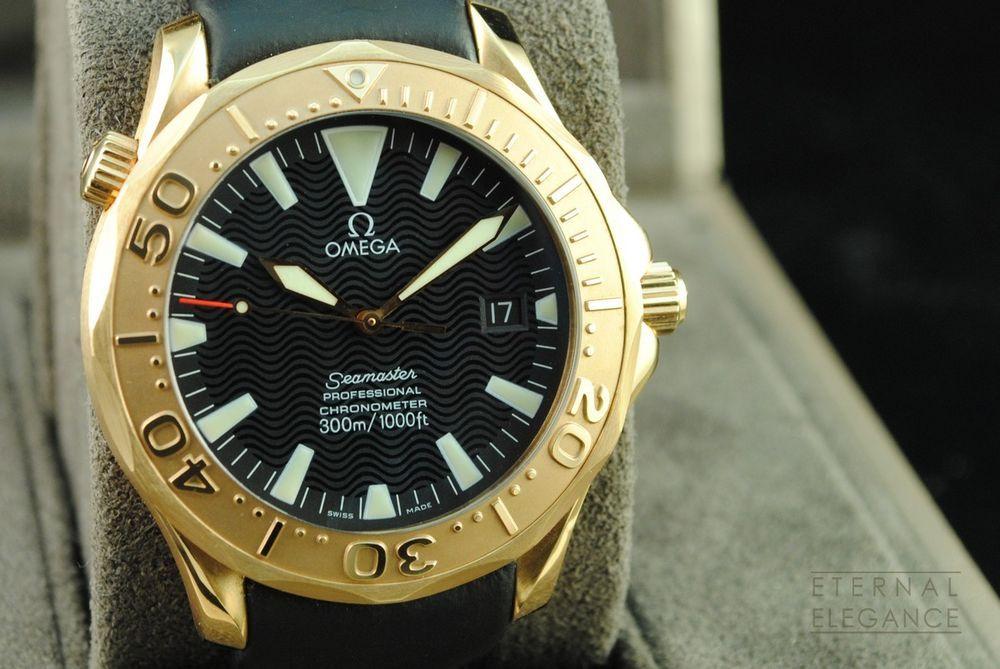Omega Seamaster 300m Professional Chronometer 2636 50 91 18k Rose Gold B P Omega Omega Seamaster Watches For Men
