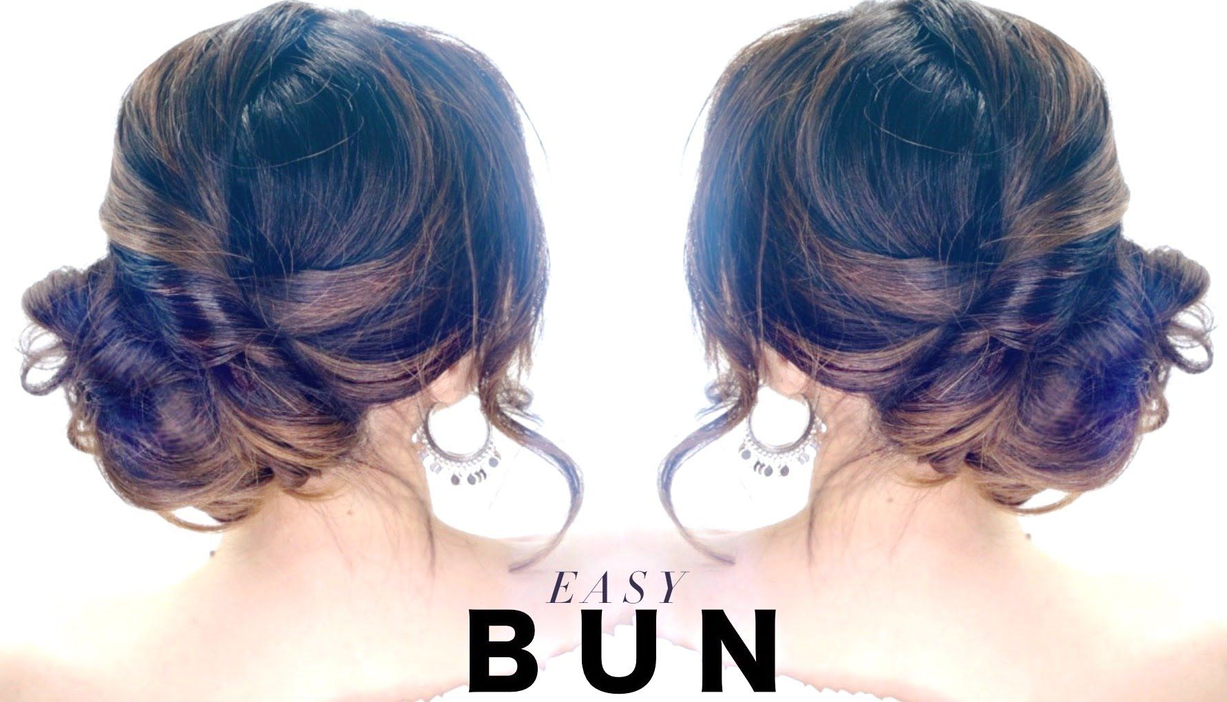 3 Minute Elegant Side Bun Hairstyle Easy Summer Updo Hairstyles Side Bun Hairstyles Easy Bun Hairstyles Medium Hair Styles