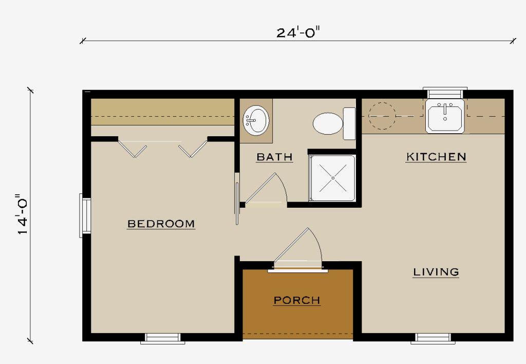 Retreat Floor Plan Pre Built Cabins Floor Plans Tiny
