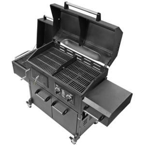 Brinkmann Triple Function Propane Gas / Charcoal Grill And Smoker 810 3830 S