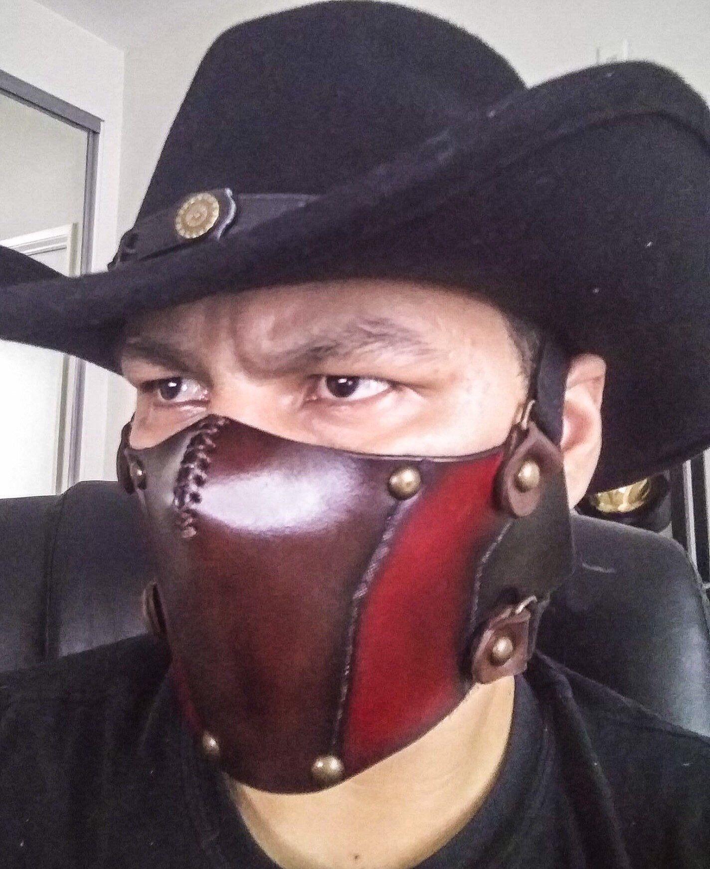 Erron Black Mask Mortal Kombat Mask Cosplay Costume Video Etsy