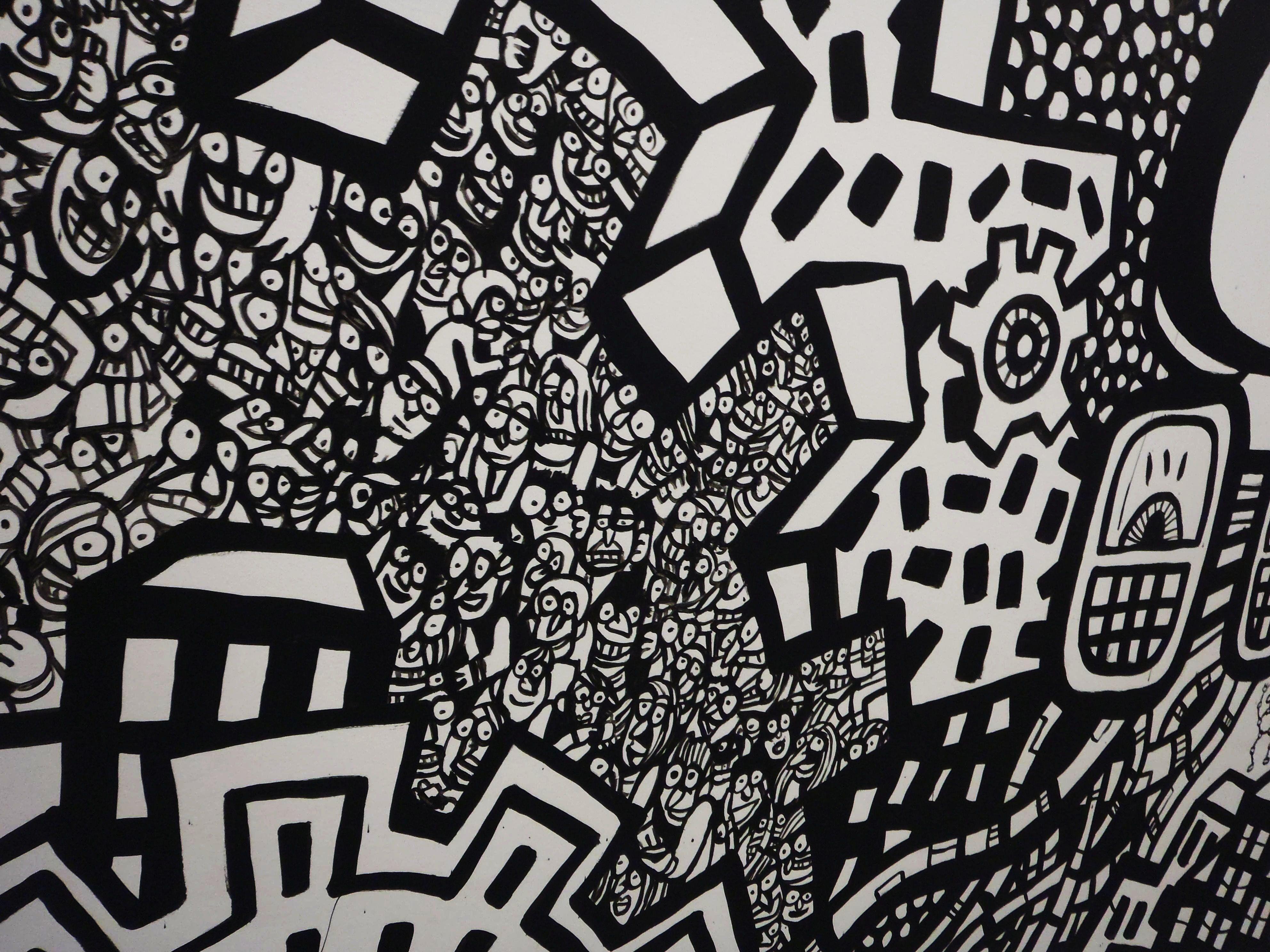 Graffiti Hd Desktop Background Wallpapers A Graffiti Murals Black And White Wallpapers White Art