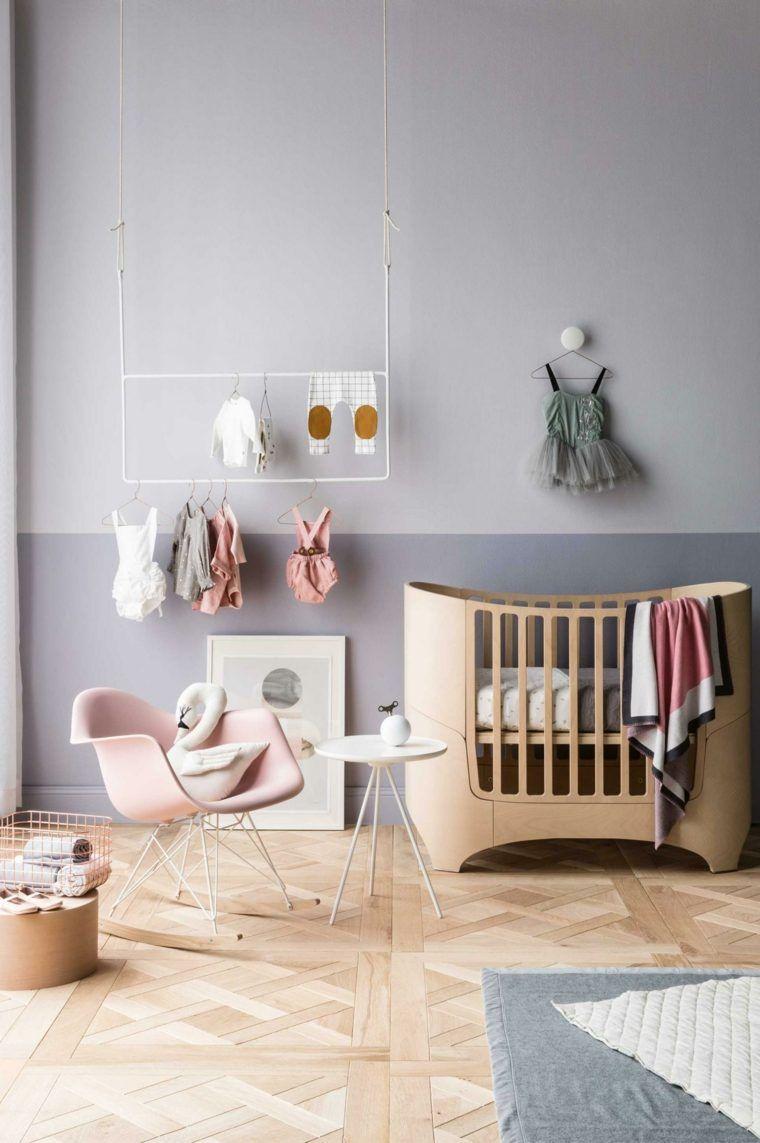 Chambre Bebe Moderne Pour Fillette De Style Retro Deco Chambre