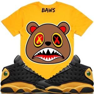 3e566fab5f1492 Baws T-Shirt HONEY BAWS Gold Sneaker Tees Shirt - Jordan 13 Oak Hill Melo