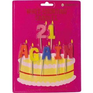 21 Again Whos Counting Candles Birthday Party Supplies