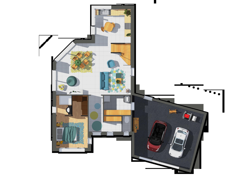 dans l 39 entr e se trouve un espace de services desservant les wc mais aussi un espace de. Black Bedroom Furniture Sets. Home Design Ideas