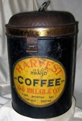 Harvest Brand Coffee Coffee Tin Vintage Tins Coffee
