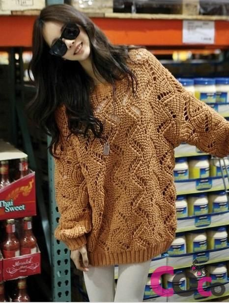 Brown Stylish Oversized Korean Fashionable Fall Collection Sweater ...