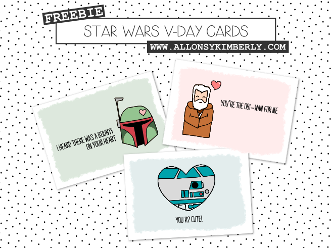 Freebie: Star Wars Valentineu0027s Day Cards | Allonsykimberly.com