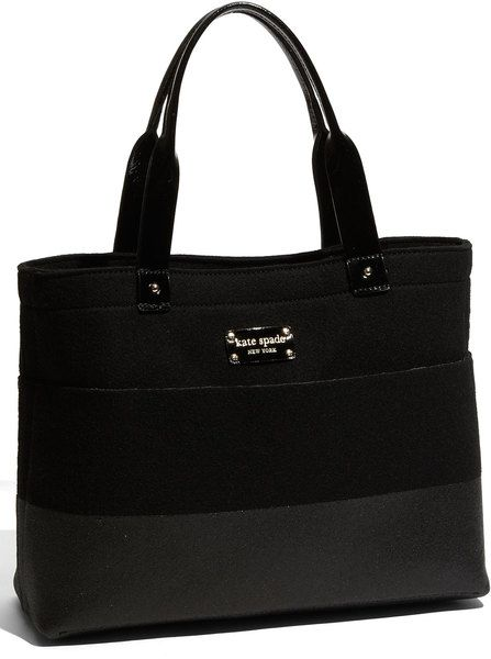 Kate Space Frosted Felt Magazine Tote - Lyst 9aedb022eab71
