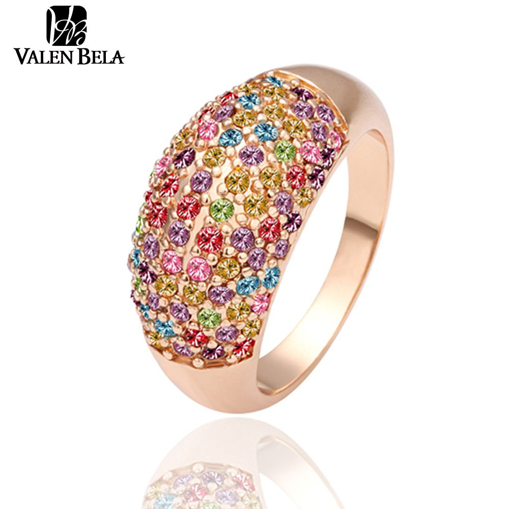 VALEN BELA fashion rose gold Color party women rings bague women