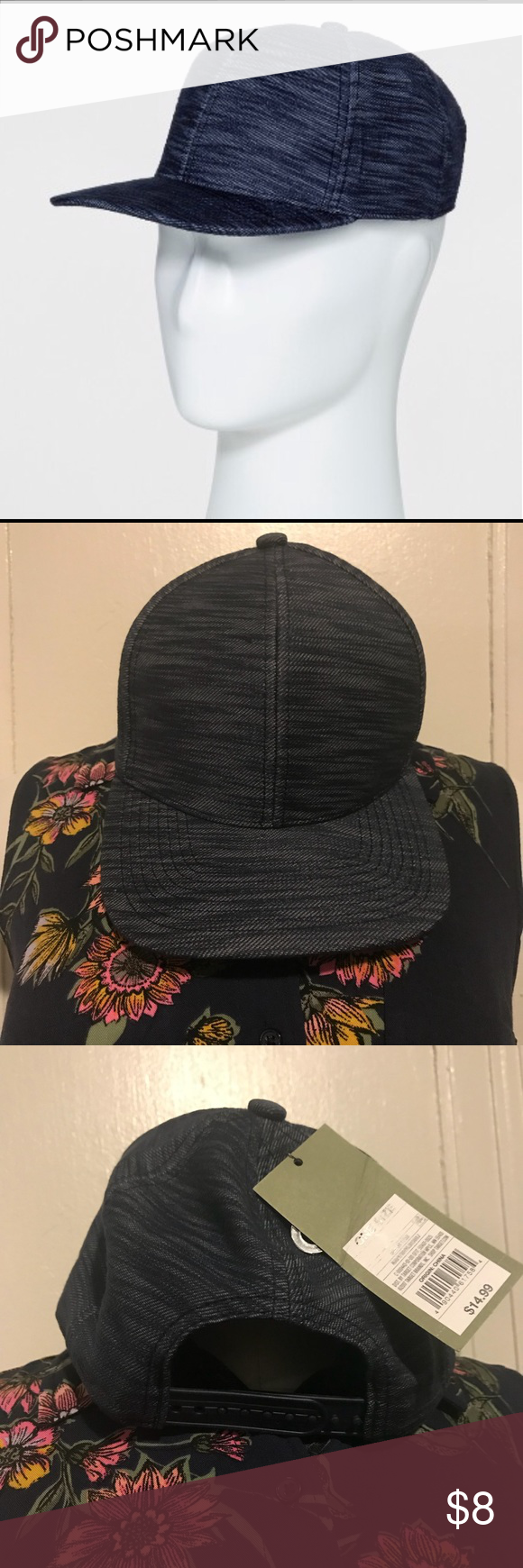 891fd92b4e6a0 Men s striped curve brim baseball hat Men s striped curve brim baseball hat  Navy one size Goodfellow