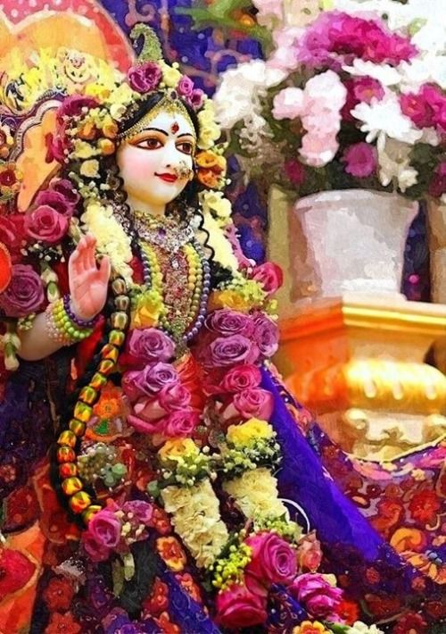 He who has grasped hold of the lotus feet of Radha with great care obtains the lotus feet of Krsna, which are like priceless jewels. Srila Bhakti…