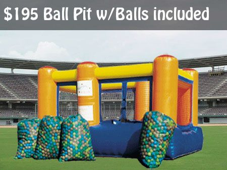Backyard Obstacle Bounce House Rental Ball Pit Inflatable
