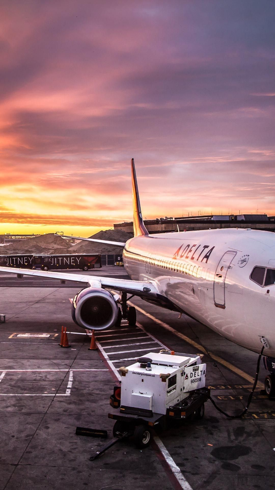 delta airline on jfk airport 1080x1920 need iphone 6s