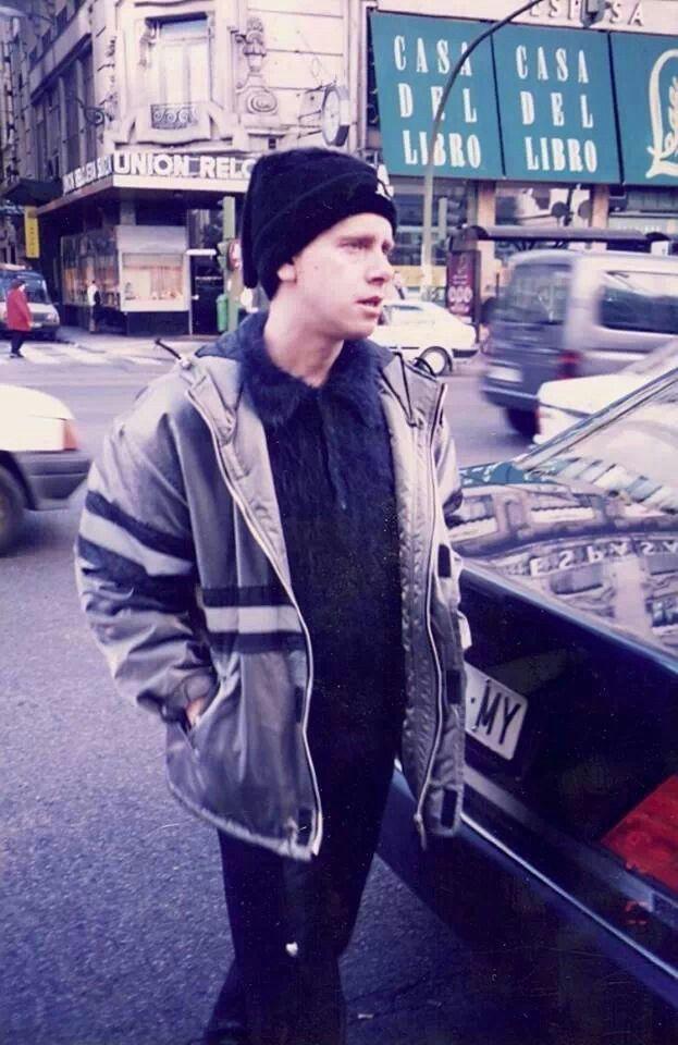 Martin en la Gran Via de Madrid 17.02.97 - mi ciudad!!!