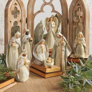 Silent Night Antique Farmhouse Christmas nativity set