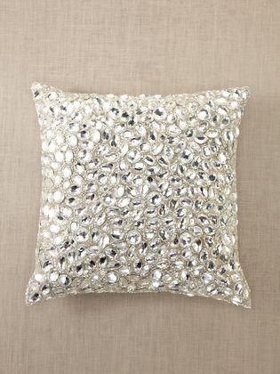 Aviva Stanoff Diamond Jewel Bling Bling Pillow 40x40 In 40 The Classy Bling Decorative Pillows