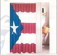 Myborinquen Com Puerto Rico Flag Shower Curtain Curtains