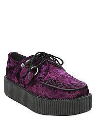 super popular 78afb 74406 HOTTOPIC.COM - T.U.K. Purple Crushed Velvet Viva Mondo ...